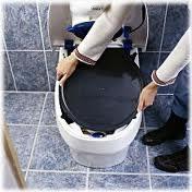 Separett composting toilet remove inner bin