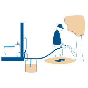 Separett composting toilet urine as fertilizer