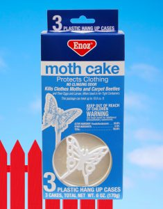 moth cake for composting toilet